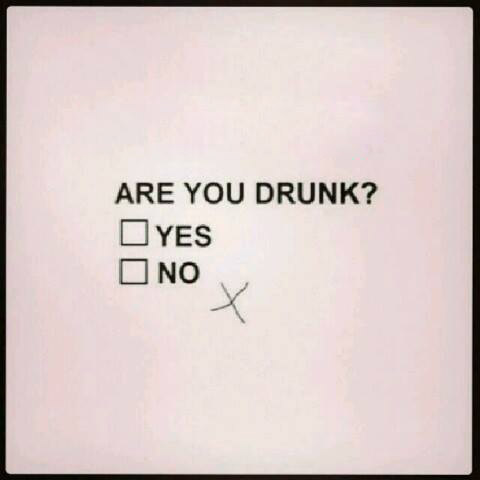 Are you Drunk?  Yes or No.