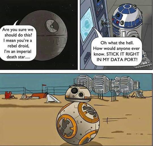 BB-8 is the love child of R2D2 and the Death Sar